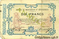 10 Francs MADAGASCAR  1917 P.02 TB