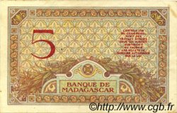5 Francs MADAGASCAR  1926 P.35 pr.TTB