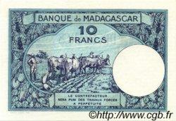 10 Francs MADAGASCAR  1947 P.36 SPL