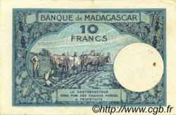 10 Francs MADAGASCAR  1957 P.36 TTB+