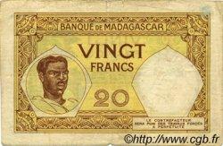 20 Francs MADAGASCAR  1926 P.37 pr.TB