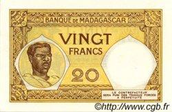 20 Francs MADAGASCAR  1937 P.37s NEUF