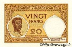 20 Francs MADAGASCAR  1937 P.37 SPL
