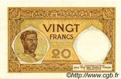 20 Francs MADAGASCAR  1948 P.37 SUP à SPL