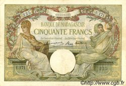 50 Francs MADAGASCAR  1937 P.38 TTB