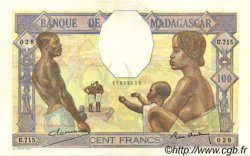 100 Francs MADAGASCAR  1937 P.40 SPL