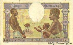 100 Francs MADAGASCAR  1948 P.40 TTB