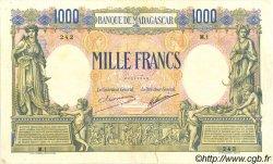 1000 Francs MADAGASCAR  1926 P.42 TTB+