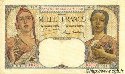1000 Francs MADAGASCAR  1945 P.41 TTB
