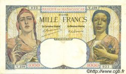 1000 Francs MADAGASCAR  1948 P.41 TTB