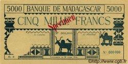 5000 Francs MADAGASCAR  1942 P.44 pr.NEUF