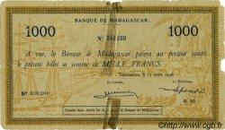 1000 Francs MADAGASCAR  1946 P.43 B