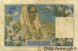500 Francs MADAGASCAR  1950 P.47a TB