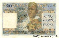 500 Francs MADAGASCAR  1952 P.47a SUP