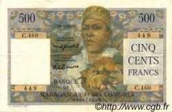 500 Francs MADAGASCAR  1955 P.47b TTB