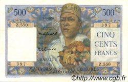 500 Francs MADAGASCAR  1958 P.47b pr.SPL