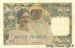 1000 Francs MADAGASCAR  1951 P.48a TTB