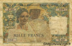 1000 Francs MADAGASCAR  1952 P.48a pr.TB
