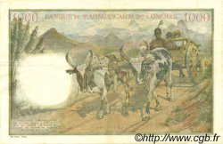 1000 Francs MADAGASCAR  1953 P.48b TTB