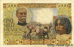 5000 Francs MADAGASCAR  1950 P.49a TB
