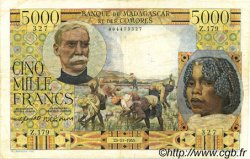 5000 Francs MADAGASCAR  1955 P.49b TB