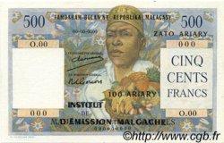 500 Francs - 100 Ariary MADAGASCAR  1961 P.53 NEUF