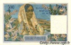 500 Francs - 100 Ariary MADAGASCAR  1961 P.53 SUP