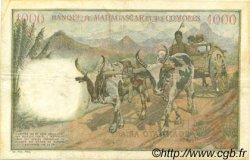 1000 Francs - 200 Ariary MADAGASCAR  1961 P.54 TB+