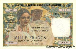 1000 Francs - 200 Ariary MADAGASCAR  1961 P.54 NEUF