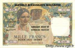 1000 Francs - 200 Ariary MADAGASCAR  1961 P.54 TTB+