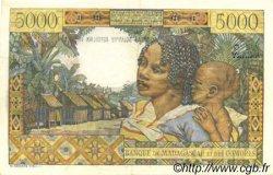 5000 Francs - 1000 Ariary MADAGASCAR  1961 P.55 TTB+