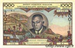 1000 Francs - 200 Ariary MADAGASCAR  1960 P.56a SUP
