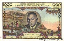 1000 Francs - 200 Ariary MADAGASCAR  1960 P.56b SUP