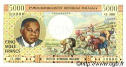 5000 Francs - 1000 Ariary MADAGASCAR  1966 P.60b pr.NEUF