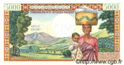 5000 Francs - 1000 Ariary MADAGASCAR  1966 P.60bs pr.NEUF