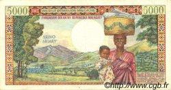5000 Francs - 1000 Ariary MADAGASCAR  1966 P.60a SUP