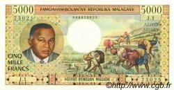 5000 Francs - 1000 Ariary MADAGASCAR  1966 P.60a pr.NEUF