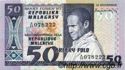 50 Francs - 10 Ariary MADAGASCAR  1974 P.62a NEUF