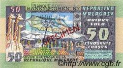 50 Francs - 10 Ariary MADAGASCAR  1974 P.62s NEUF