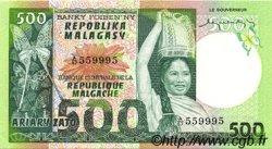 500 Francs - 100 Ariary MADAGASCAR  1974 P.64a SPL+