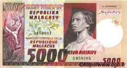 5000 Francs - 1000 Ariary MADAGASCAR  1974 P.66a pr.NEUF