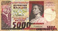 5000 Francs - 1000 Ariary MADAGASCAR  1974 P.66a TB+