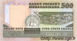 500 Francs - 100 Ariary MADAGASCAR  1983 P.67 NEUF