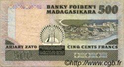 500 Francs - 100 Ariary MADAGASCAR  1983 P.67 TTB