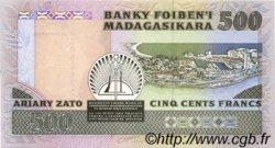 500 Francs - 100 Ariary MADAGASCAR  1988 P.71a pr.NEUF