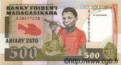 500 Francs - 100 Ariary MADAGASCAR  1988 P.71b NEUF