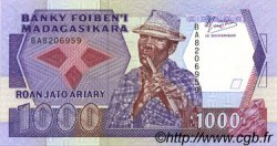 1000 Francs - 200 Ariary MADAGASCAR  1988 P.72a NEUF