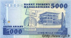 5000 Francs - 1000 Ariary MADAGASCAR  1988 P.73a NEUF