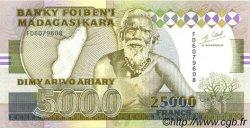 25000 Francs - 5000 Ariary MADAGASCAR  1988 P.74Ab pr.NEUF