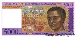 5000 Francs - 1000 Ariary MADAGASCAR  1994 P.78a NEUF